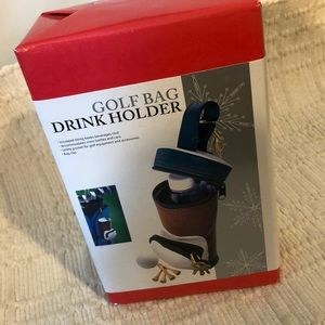 Golf bag drink holder